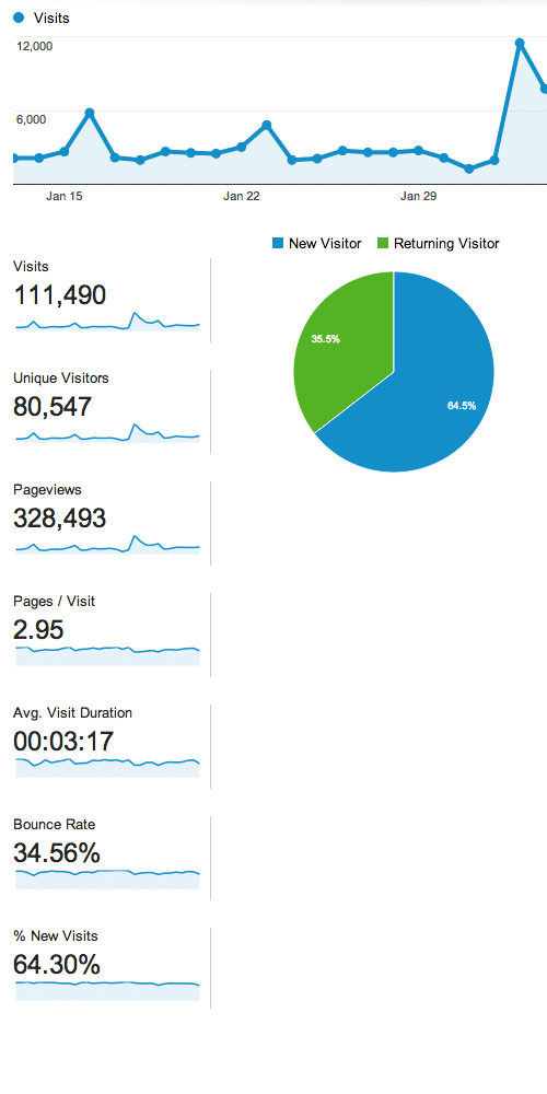 Web traffic stats screenshot